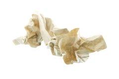 Papier de soie de soie utilisé Photos libres de droits