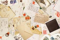 Papier de vintage pour le fond de correspondance Photographie stock