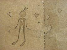 Papier in der Liebe Lizenzfreie Stockfotos