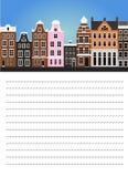 Papier dla notatki z Amsterdam ilustracja wektor