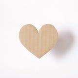 Papier en forme de coeur sur le fond blanc Photographie stock