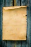Papier et bois de signe occidental de type d'art vieux Photos libres de droits
