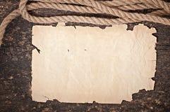 Papier et corde Image stock