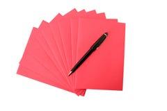 Papier et crayon Images libres de droits