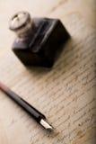 Papier et crayon lecteur Photo libre de droits