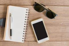Papier et crayon lecteur de Copybook Image libre de droits