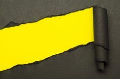 Papier et espace déchirés pour le texte Images libres de droits