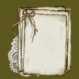 Papier et lacet Image stock