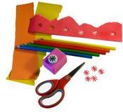 Papier et outils de Scrapbooking Photos stock