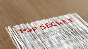 Papier extrêmement secret déchiqueté rassemblé Photographie stock