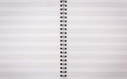 Papier für musikalische Anmerkungen Stockfotos