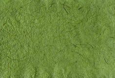 Papier fait main vert avec la texture photographie stock