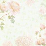 Papier floral fané illustration libre de droits