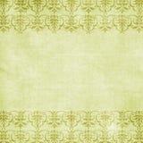 Papier floral vert d'album à fond d'amour Photo libre de droits