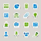 Papier geschnitten - Büro- und Geschäftsikonen Lizenzfreie Stockfotos