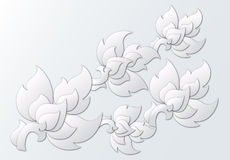 Papier geschnittene thailändische Gestaltungselemente Lizenzfreie Stockfotografie