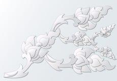 Papier geschnittene thailändische Gestaltungselemente Stockbild