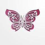 Papier geschnittener abstrakter Spitzen- Schmetterling Vektor eps10 vektor abbildung