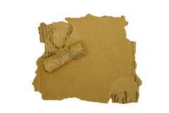 Papier gofrować rozdzierać krawędzie odizolowywali biel zdjęcia royalty free
