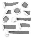 Papier gris Photographie stock libre de droits