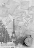Papier gris Photos libres de droits