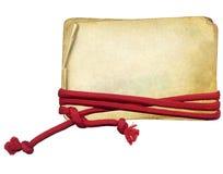 Papier grunge avec la corde sur le fond d'isolement illustration libre de droits
