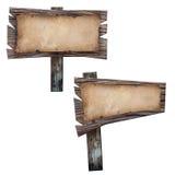 Papier grunge avec le signe de panneau en bois. Images stock