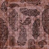 Papier grunge floral de cru Image libre de droits