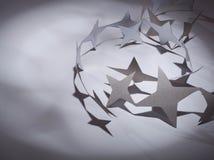 Papier gwiazd grupa na colour tle Obrazy Royalty Free