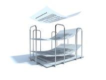 Papier-houder stock illustratie