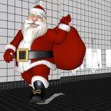 Papier hygiénique de Santa illustration libre de droits