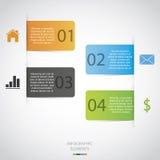 Papier Infographic stock abbildung