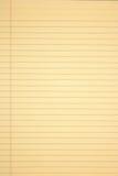 Papier jaune Photographie stock libre de droits