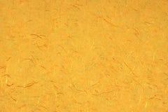 Papier jaune-orange B d'Amber Citrine Color Mulberry Handmade d'or Images libres de droits