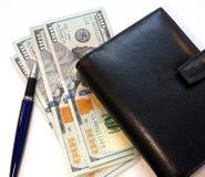 Papier, journal intime et stylo d'argent Image stock