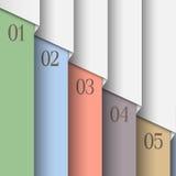 Papier liczący sztandary w pastelowych kolorach ilustracja wektor