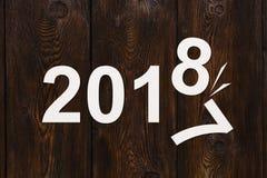 Papier liczy 2018 zmienia 2017 Abstrakcjonistyczny konceptualny wizerunek Zdjęcie Royalty Free