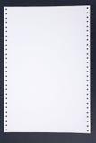 Papier listing Photographie stock libre de droits