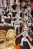 Papier maché skeletons for the Day of the Dead festival in Mexico Royalty Free Stock Photography