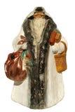 Papier-mache-behang het stuk speelgoed van de Kerstman (met zak en mand) Royalty-vrije Stock Afbeeldingen