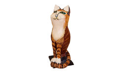 Papier mache Pusscat Royalty Free Stock Image