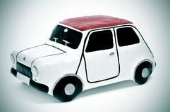 Papier-mache toy car Royalty Free Stock Photography
