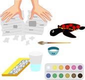 Papier - machehemslöjd, pappers- produkter royaltyfri illustrationer