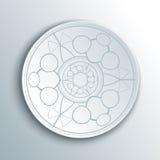 Papier-Mandala 3d Lizenzfreie Stockbilder