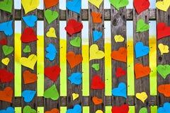 Papier meny de jour de Valentines de couleur d'amour de coeurs de frontière de sécurité de coeur Image libre de droits