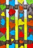 Papier meny de jour de Valentines de couleur d'amour de coeurs de frontière de sécurité de coeur Images stock