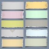 Papier mit 10 Anmerkungen in den Pastellfarben Lizenzfreies Stockbild
