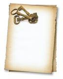 Papier mit alten Tasten stockbild