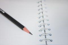 Papier mit Bleistift Stockfoto