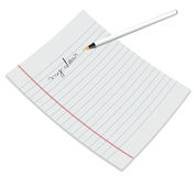 Papier mit Feder vektor abbildung
